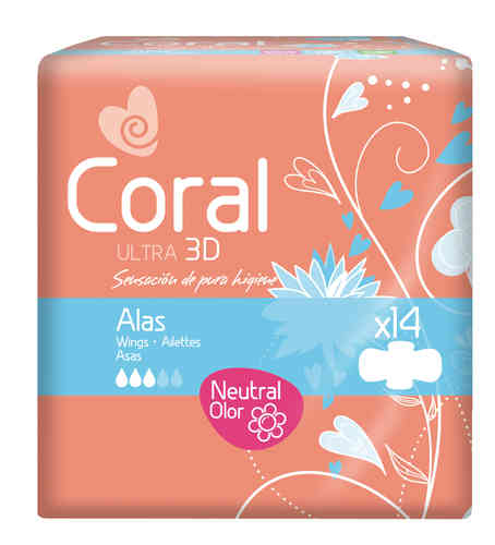 CORAL ULTRA 3D ALAS NORMAL (14 uds)