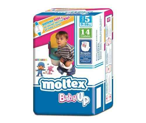 MOLTEX BABY UP Talla 5 9-16 kg (14 uds)