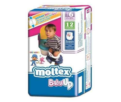 MOLTEX BABY UP Talla 6 15-23 kg (12 uds)