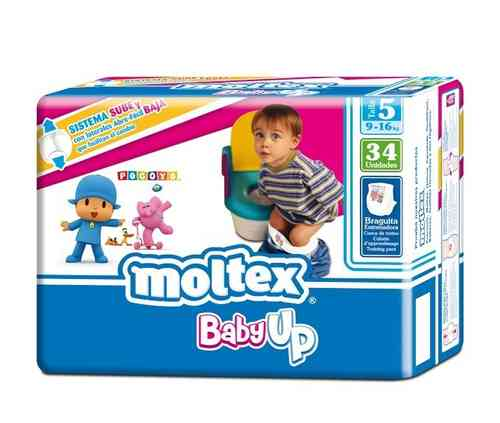 MOLTEX BABY UP Talla 5 9-16 kg (34 uds)