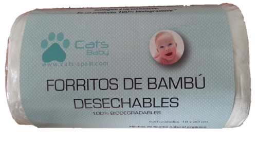 FORRITOS DE BAMBU CATS BABY 100 uds DESECHABLES WC