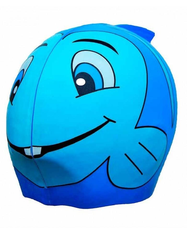 Gorro de piscina azul pez swinfin beb s mamis - Gorros de piscina ...