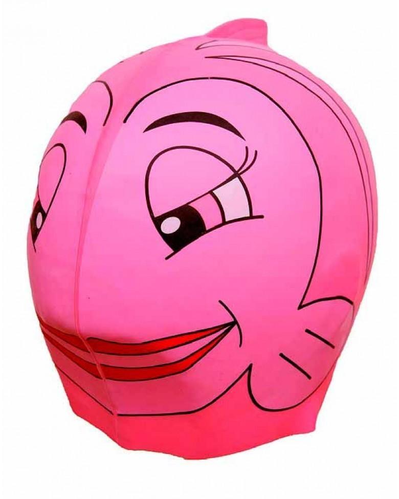 Gorro de piscina rosa pez swinfin beb s mamis - Gorros de piscina ...