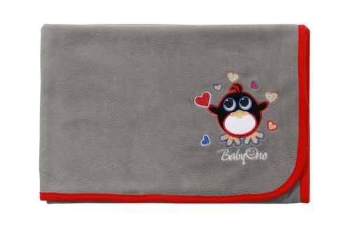 MANTITA POLAR SUPER SUAVE GREY PENGUIN BABYONO