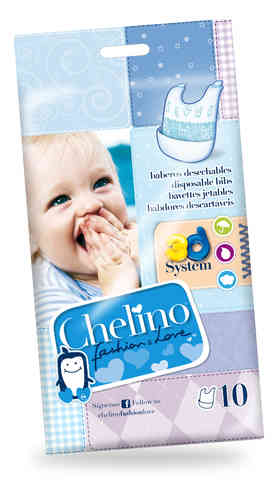 BABEROS DESECHABLES CHELINO FASHION & LOVE 10 uds