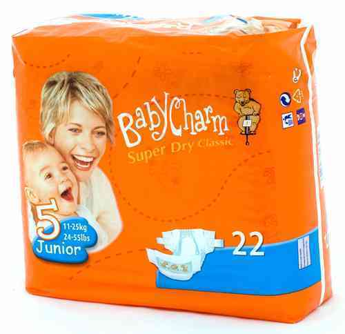 BABYCHARM SUPER DRY CLASSIC T 5 JUN 11/25 kg (22 uds)