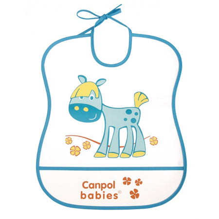 BABERO PLASTICO CON BOLSILLO - Happy Animals