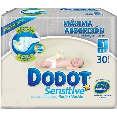 DODOT SENSITIVE T1 RECIEN NACIDO 2/5 KG (30 uds)