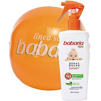 BABARIA SUN F-50 SPRAY SOLAR INFANTIL + BALON DE PLAYA 150 ml