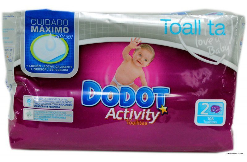 TOALLITAS DODOT ACTIVITY PACK 108 uds