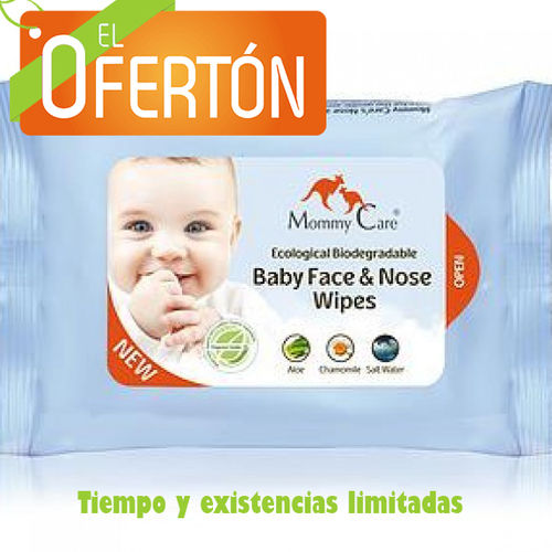 TOALLITAS FACIALES SALINAS ECOLOGICAS MOMMY CARE 24 uds