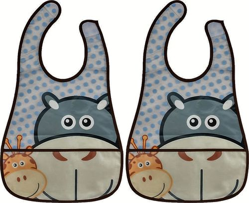 PACK 2 BABEROS CON BOLSILLO ANIMALS FILLIKID