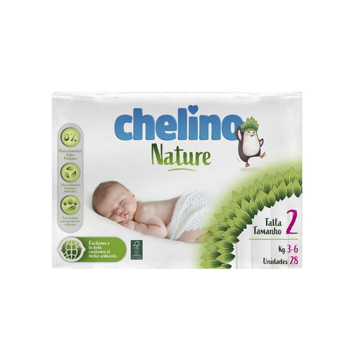 CHELINO NATURE T2 3-6 Kg  28 uds
