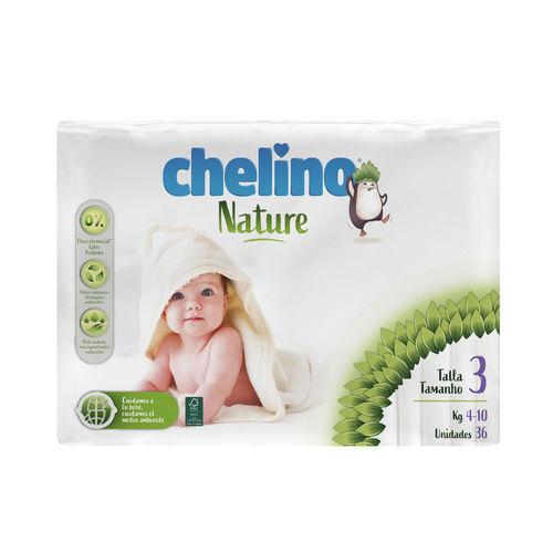 CHELINO NATURE T3 4-10 Kg  36 uds