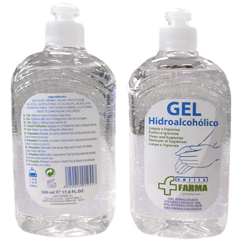 GEL HIDROALCOHÓLICO VERITA FARMA 500ML